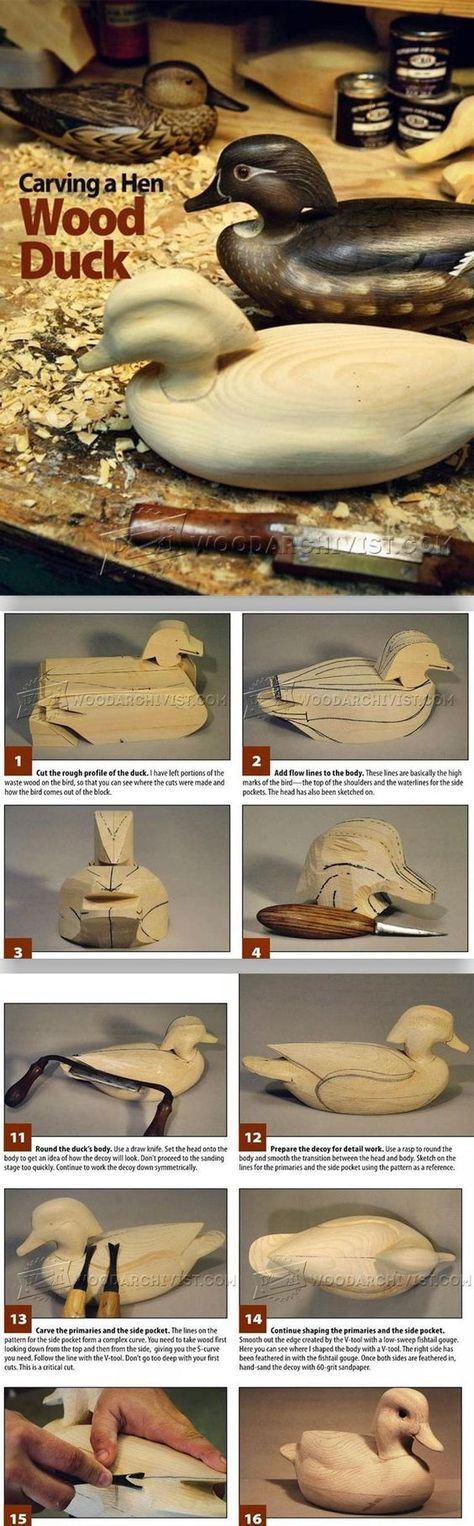 Duck Carving - Wood Carving Patterns and Techniques   WoodArchivist.com