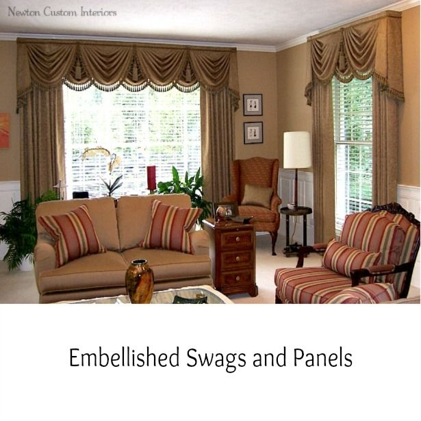 Embellished Swags And Panels. Window CoveringsWindow ...