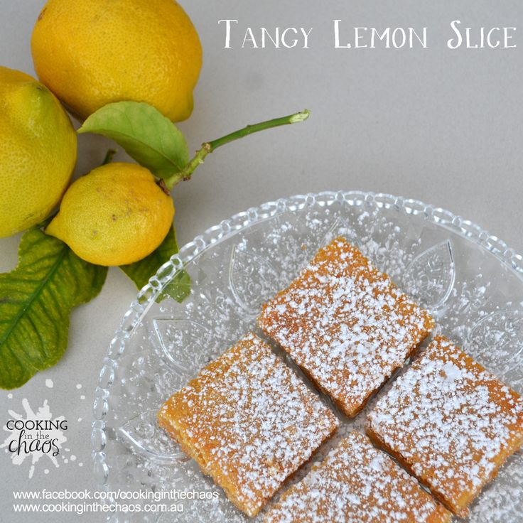 Tangy Lemon Slice - Thermomix Recipe - Cooking in the Chaos