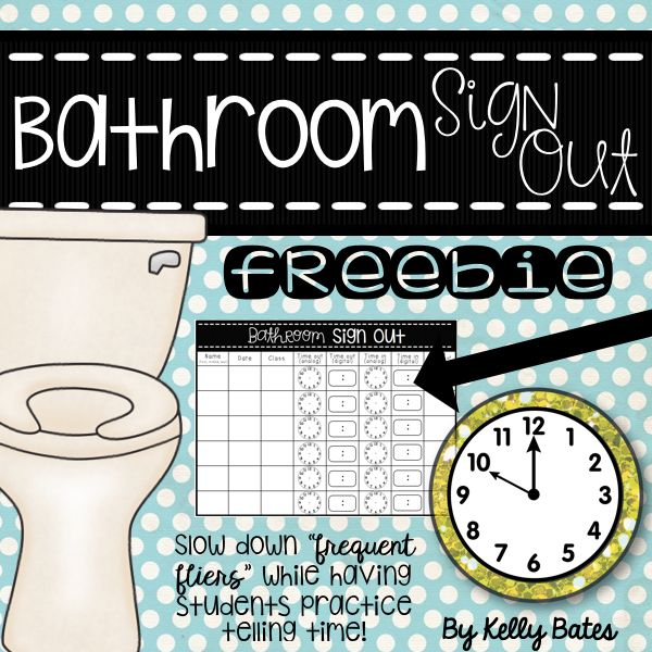 Bathroom Sign Out Classroom bathroom sign out board for the classroom one boy and one girl at