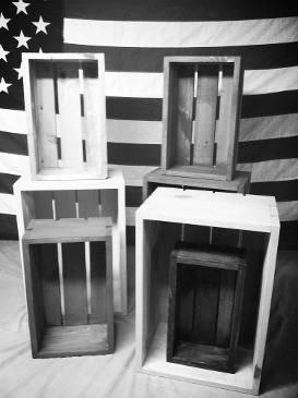 Rustic Old Fashioned Vintage Wood Crates
