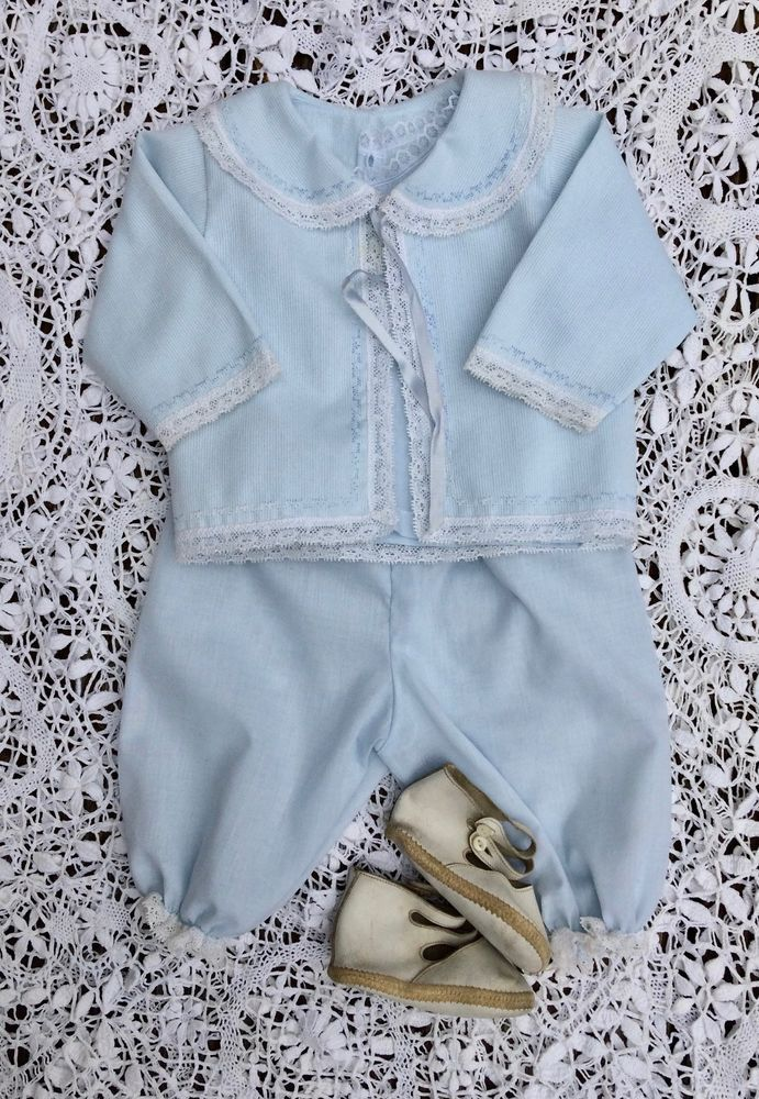Baby boy suit, dressy baby suit, christening, baptism, first Easter, pale blue #SuitsTuxedos