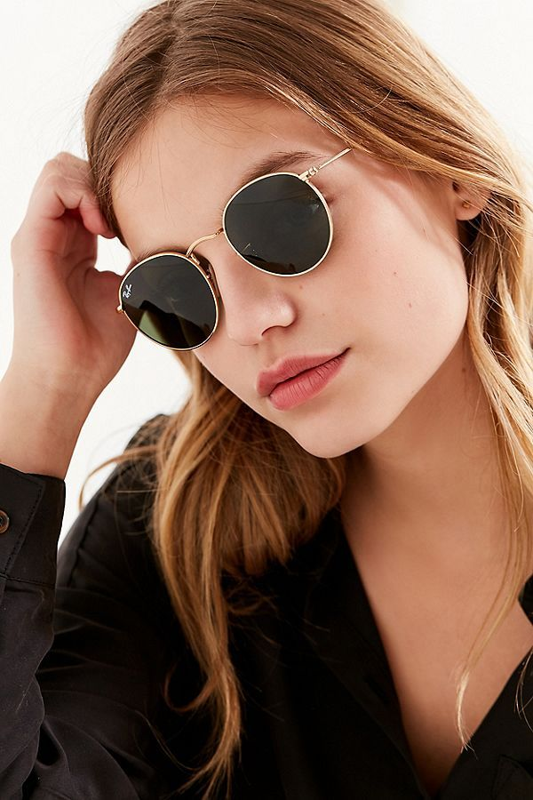 081f6338d58 Slide View  1  Ray-Ban Round Metal Classic Sunglasses