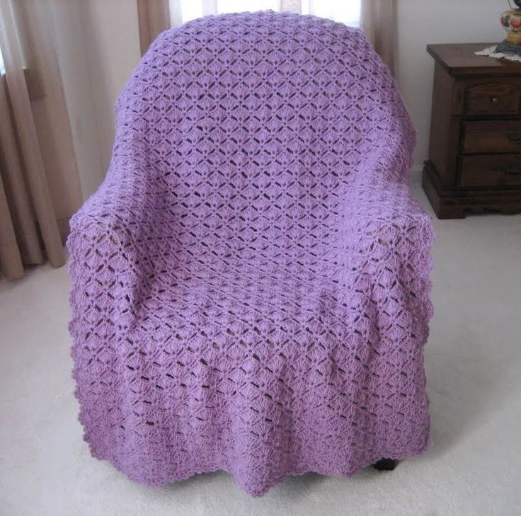 Simply Elegant Crochet Afghan - a royal treat for any room of the house