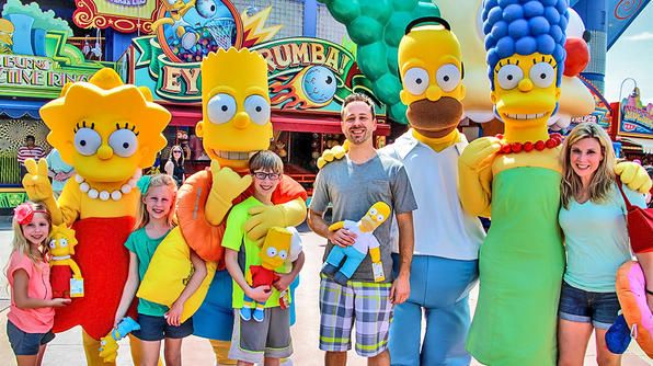 Florida- It's the Simpson family inside Springfield USA at Universal Studios!