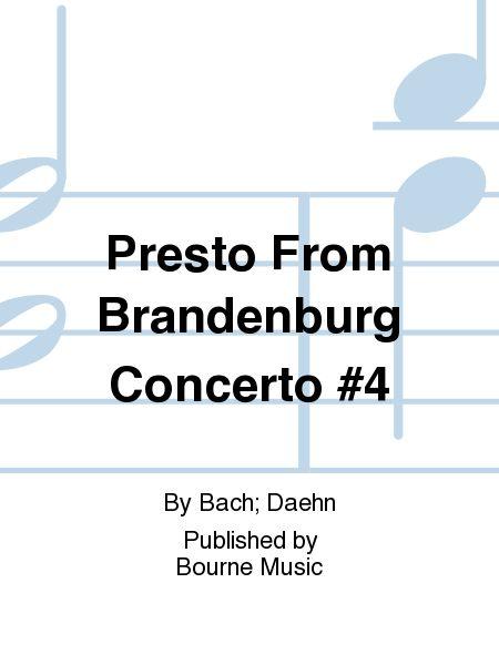 Presto From Brandenburg Concerto #4