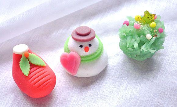 Christmas wagashi ( Japanese-style confection )