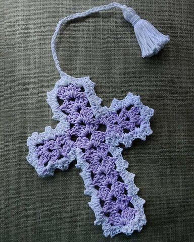 Picture of Cross Bookmarks in Thread Crochet Pattern