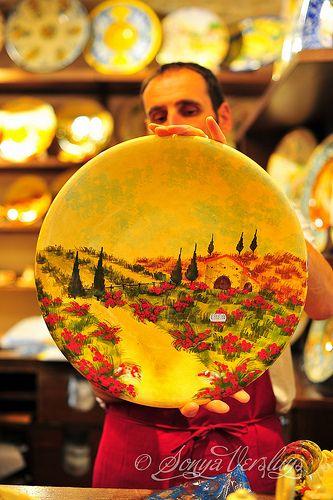 Tuscan Pottery #Home #Tuscan #Design - Find more Ideas on www.IrvineHomeBlog.com/HomeDecor  Irvine, California - Christina Khandan ༺༺ ℭƘ ༻༻