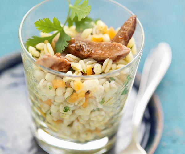 Salade de blé aux aiguillettes de canard