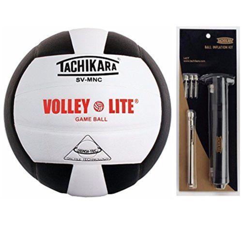 Volleyballs 159132: Tachikara Sv-Mnc Volley-Lite Volleyball ((Black White)Bundle) -> BUY IT NOW ONLY: $32.99 on eBay!