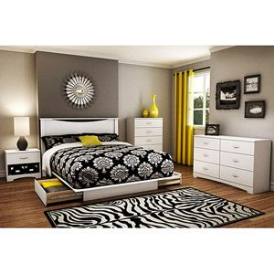 South Shore Soho 5 Piece Complete Bedroom Value Bundle White