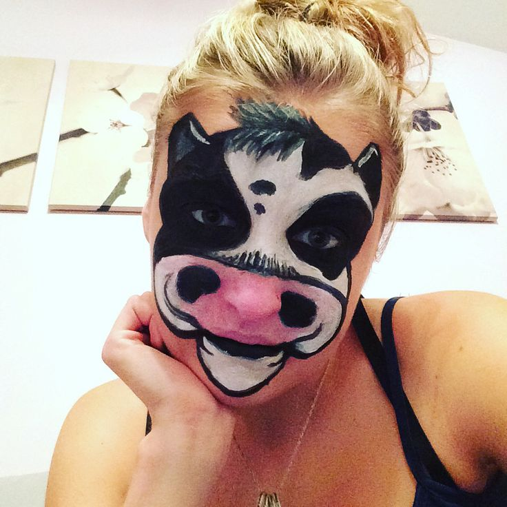cow face paint with pro body paints                                                                                                                                                      More
