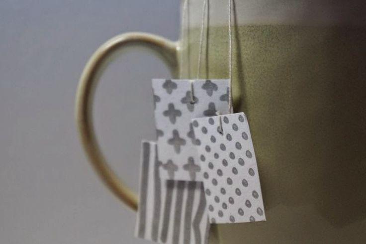 mačet: DIY čajové pytlíky ((DIY tea bag labels)