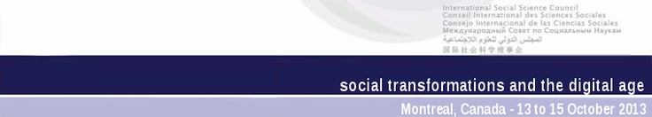 Social Transformations and the Digital Age | World Social Science Forum 2013