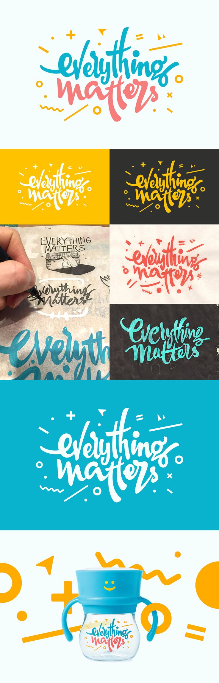 Calligraphy for baby bottle Everything Matters