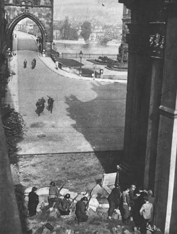 Prague Uprising (1945) - Armed Prague population against the German army at the end of the Second World War. The fighting on the side of the rebels also hit unit of General Vlasov (ROA), and guerilla groups.