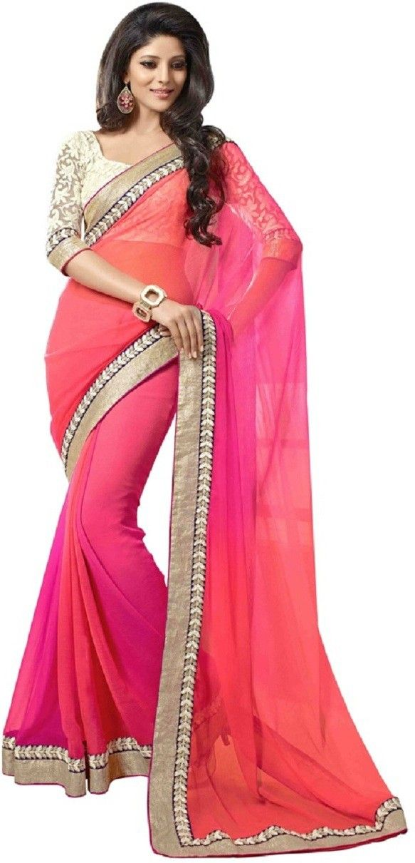 #WithBlousePiece #Bollywood #Sari #Georgette #Multicolor #saree