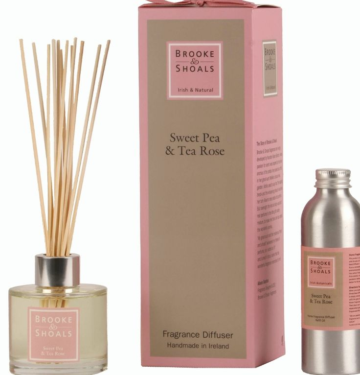 Brooke & Shoals | Reed Diffuser and Refill Oil | Sweet Pea & Tea Rose | Comforting