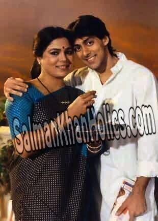 Blast from the Past:Salman Khan with Reema Lagoo on the sets of *Maine Pyar Kiya*