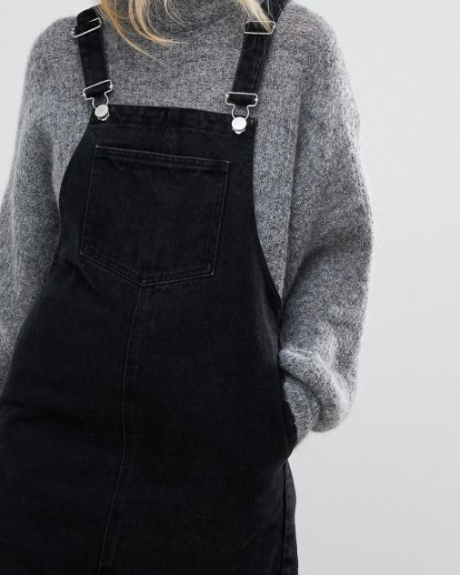 Denim Dungaree Dress: http://shopstyle.it/l/roBO