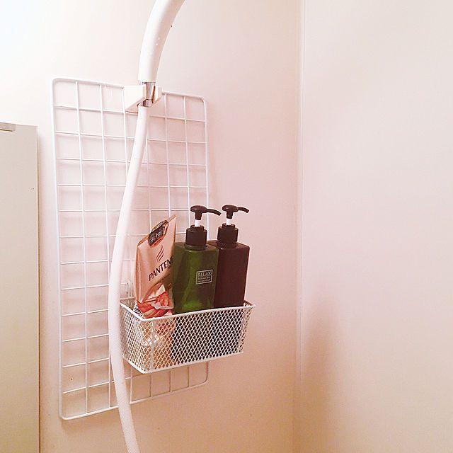 Saamさんのbathroom 100均 ワンルーム 一人暮らし ユニットバス セリア
