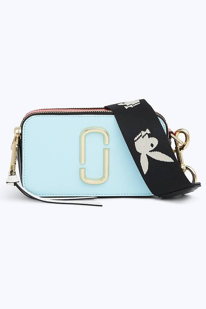 18249afb34 Marc Jacobs Snapshot Small Camera Bag in Baby Blue Multi | Marc ...