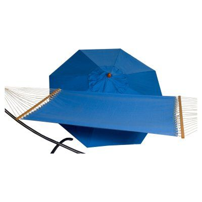 Phat Tommy 9 ft. Wood Sunbrella Umbrella and Hammock Set Capri - 330/350-COMBO.CAPRI