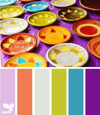 Plated Hues - Color Palette - Paint Inspiration- Paint Colors- Paint Palette- Color- Design Inspiration