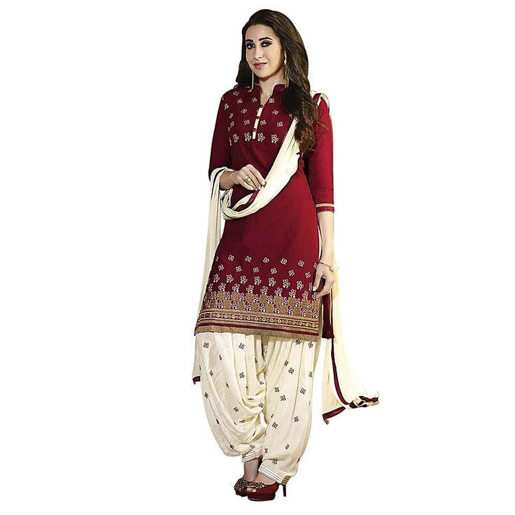 Shop Li Te Ra Elegant Maroon Cotton Dress Material by Style By India online. Largest collection of Latest Salwar Suits online. ✻ 100% Genuine Products ✻ Easy Returns ✻ Timely Delivery