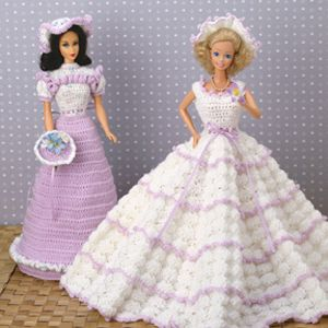 Leisure Arts - Fashion Doll Formals Crochet Patterns ePattern, $4.99 (http://www.leisurearts.com/products/fashion-doll-formals-crochet-patterns-digital-download.html)