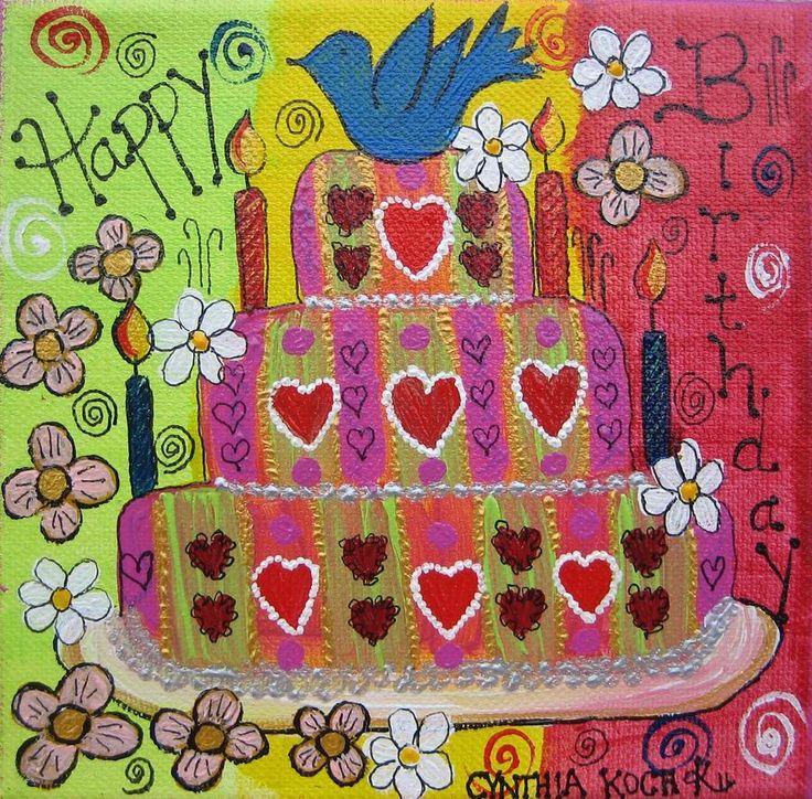Happy Birthday To You Canvas Print / Canvas Art By Cynthia