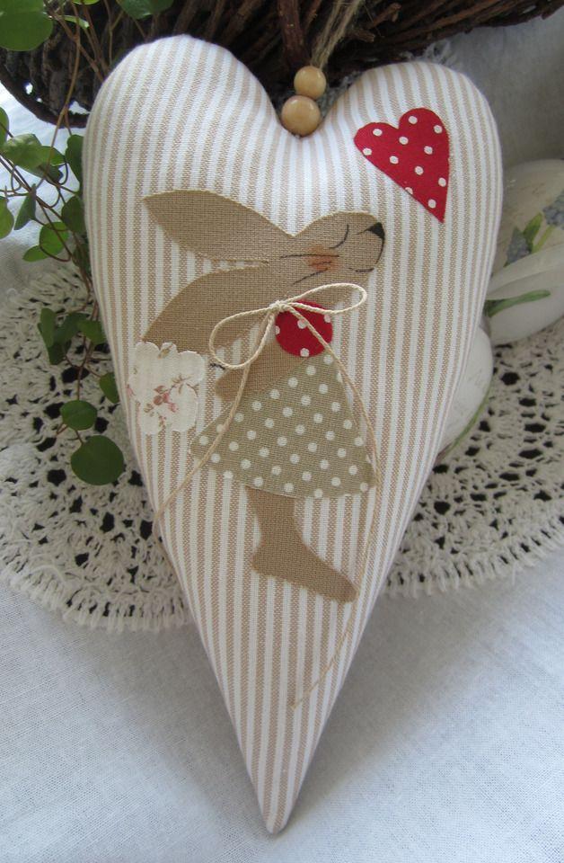 Easter Bunny - Easter Bunny / cuore, country-style - un pezzo di design di Feinerlei su DaWanda