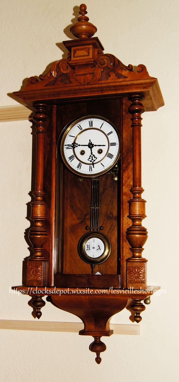 Antique Wall Clock Kienzle 1895 Wand Uhr Horloge Murale