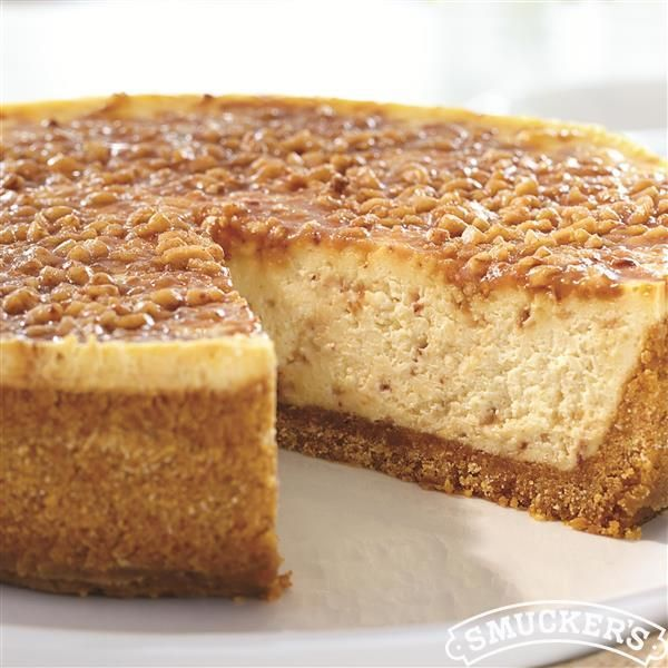 This English Toffee Cheesecake recipe from Smucker's® is a sweet way to celebrate this Holiday season.