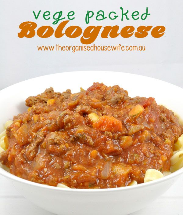 this vege packed bolognese is a fabulous meaty recipe, but has loads of vegetables snuck in.