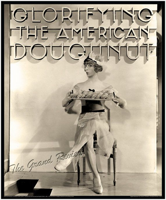 Eddie Cantor In Drag From PALMY DAYS - Large Restored Photo Print - Jazz Age - Art Deco - Streamline Modern - Glorifying The American Girl