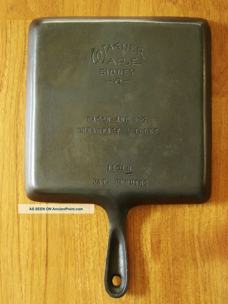 Old Cast Iron Skillet Brands | ... Wagner Ware Sidney O 1101 H Bacon  Egg Breakfast Skillet Cast Iron