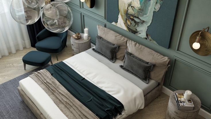 "Emerald Bedroom ""Изумрудная спальня"" - Галерея 3ddd.ru"