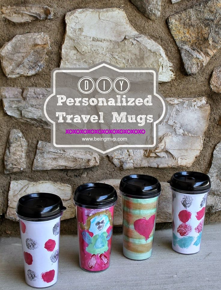 Preppy Monogrammed Travel Mugs