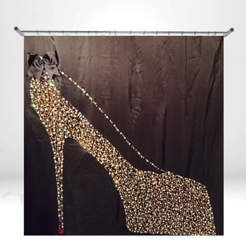 Luxury Shower Cutains with unique Rhinestone Designs