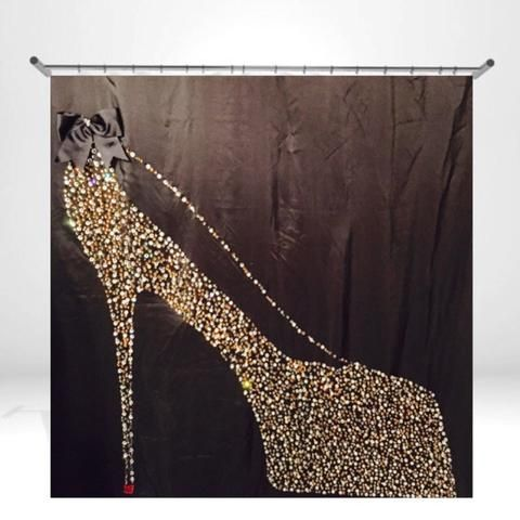 Luxury Shower Cutains with unique Rhinestone Designs