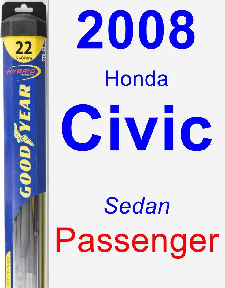 Passenger Wiper Blade for 2008 Honda Civic - Hybrid