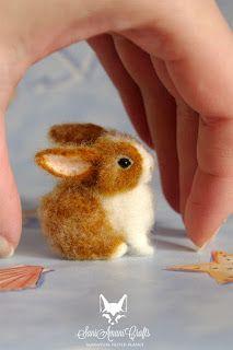 Needle felted bunny, tiny miniature bunny, bunnies, miniatures for doll house and fairy garden