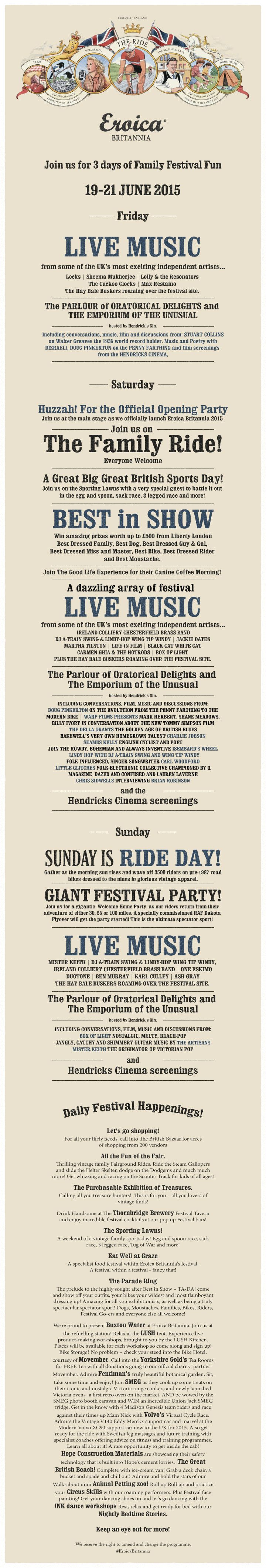 Eroica Britannia 2015 - see you  there if you're going!