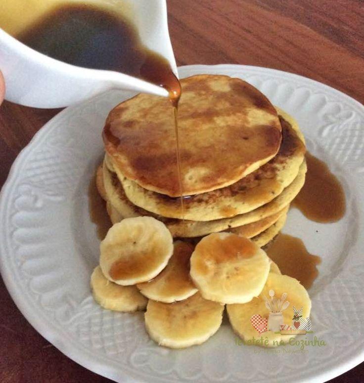 Panqueca Fit de Banana com Aveia, a queridinha da geração fitness, bem simples de fazer e receita sem glúten, lactose e açúcar.