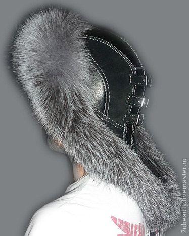The MALAHAI . Ushanka .Russian fur hat.Silver fox fur. by 2UBEAUTY
