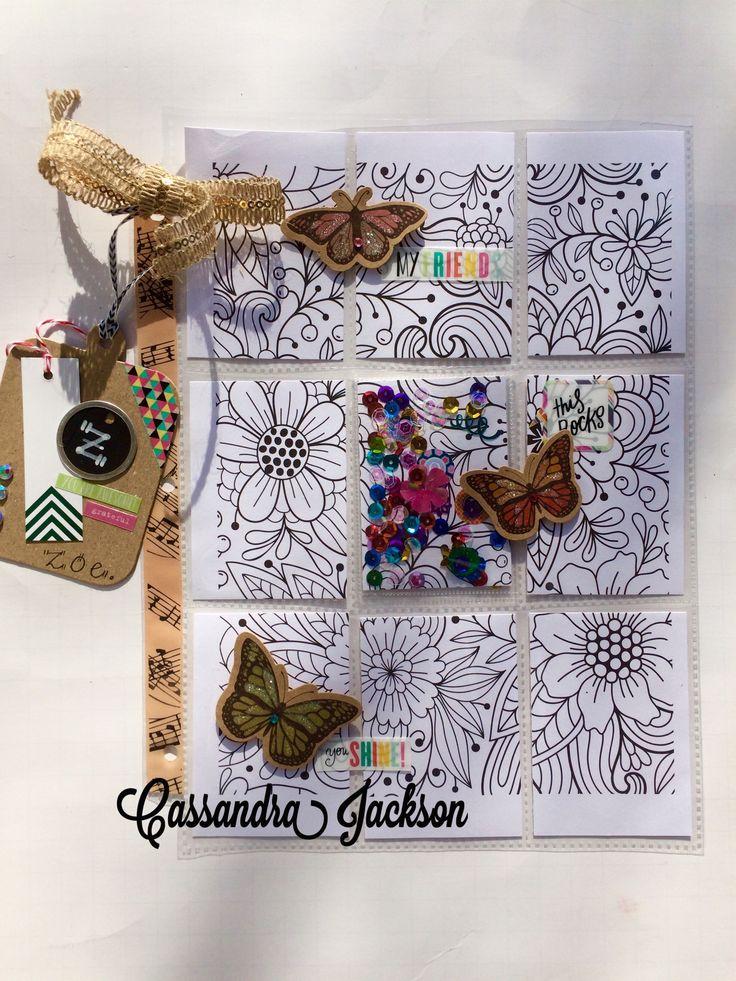 Outgoing Pocket Letter - Color Your Own - December 2016
