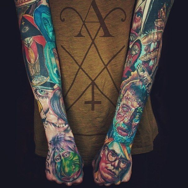 30 Best Zombie Sleeve Tattoo Designs Images On Pinterest