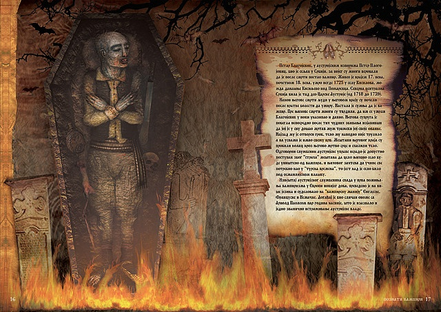 Petar Blagojevic (Петар Благојевић; died 1725) was a Serbian peasant who was believed to have become a vampire after his death and to have killed nine of his fellow villagers. The case was one of the earliest, most sensational and most well documented cases of vampire hysteria. It was described in the report of Imperial Provisor Frombald, an official of the Austrian administration, who witnessed the staking of Blagojevic. #Vampires #legends